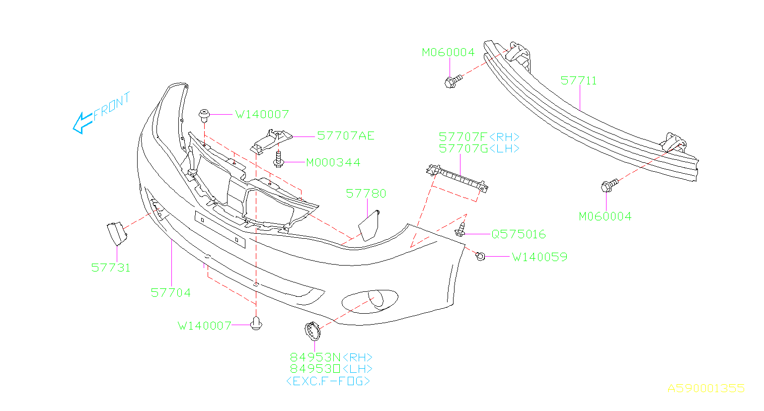 Diagram FRONT BUMPER. '11MY-. for your Subaru
